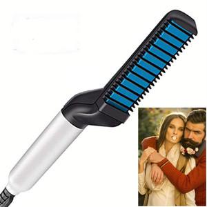 Щетка для выпрямления бороды, Электрическая расческа для волос для мужчин, Выпрямитель для волос, Щетка для укладки волос Портативный анти-Скальд Борода Железный подарок для мужчин