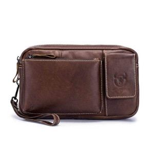 Erkek Kahverengi Bel Çantaları Vintage Deri Seyahat Çantası Gizli Cüzdan Pasaport Bel Kemeri Erkek Katı Moda Sokak Bags Paketleri