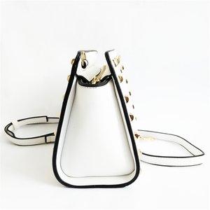 Designer- Women Casual Rivet Bag Female Large Shoulder Bags Lady Daily Shopping Crossbody Bag Pu Leather Handbag With Fur Ball Sac A Main#107