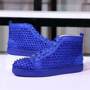 Hommes Desinger Chaussures Cloutés Spikes Sneaker Hommes formateurs Appartements 100% En Cuir Véritable Pour Hommes Et Femmes Amoureux Nous 5-12
