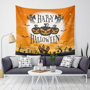 Halloween citrouille Tapestry Halloween Trick Treat mur Ghost Horreur Hanging Tapisserie Accueil Party Decoration Sofa mur tapisserie BH2406 TQQ