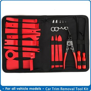 Car Trim Removal Tools Kit Auto Panel Dash Audio Radio Removal Installer Repair Pry Tools Kit Fastener Storage bag Accessories