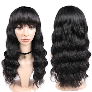 Ishow Body Straight Kinky Curly Wig Peruvian Loose Deep Human Hair Wigs With Bangs Water Human Hair None Lace Wig