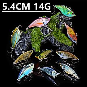 Mixed 10 Color 5.4cm 14g VIB Fishing Hooks Fishhooks 8# Hook Plastic Hard Baits & Lures Pesca Fishing Tackle Accessories z-5