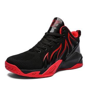 Primavera Hight-top zapatos de baloncesto muchacho y de la MUCHACHA: Deportes Cemento Combat Boots Parejas Adolescente que se ejecuta calzado deportivo calzado