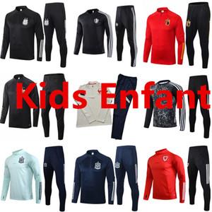 سترة 2020 2021 فرانسيس الاطفال اسبانيا لكرة القدم رياضية Survetement كرة القدم تدريب دعوى الاطفال ويلز بلجيكا رياضية chandal فوتبول
