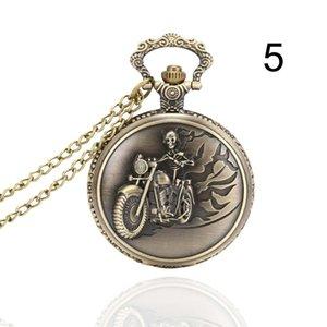 Fashion Men Women Pocket Watch Alloy Openable Hollow Carved Vintage Unisex Quartz Necklace Pendant Chain Clock @LS