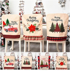 Рождественский стул Обложки Обеденный стул обложки чехлов для Xmas Банкет Праздник Chritsmas Украшение DHF381