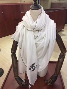 Atacado-O famoso estilo 100% lenços de seda de mulheres e homens cor sólida preto macio moda xale mulheres cachecol de seda tamanho quadrado 210 * 90