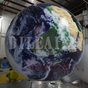 زخرفة شنقا الكرة نفخ القمر، قبة نفخ إضاءة LED نموذج كوكب بالون للأحداث الزينة حفل زفاف
