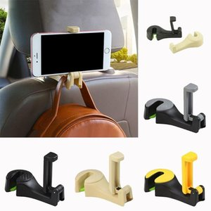 2 In 1 Auto Car Back Seat Phone Holder Stand Headrest Hanger Hook Clip For Bag Phones Bag Cars Interior Hanging Accessoies