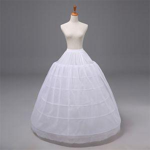 Uzun Balo Gelinlik Petticoat Beyaz Elastik Kemer Çemberler Artı Boyutu Performans Petticoat