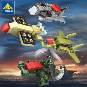 Ordu Stilleri Kamyon Model Araba Assembly Bina Çocuk Seti Askeri Tuğla Silah Oyuncaklar Blokları için Teknik Tank 02 Ordu Robot Boy Oyuncak 8 MHVJD