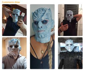 Halloween Maske Night King Walker Gesicht NIGHT RE Zombie Latex Maske Erwachsene Cosplay Thron Kostüm Party Maske Game of Thrones