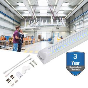 Porte de réfrigérateur T8 8 Pied V Forme Tube LED 72W 7200 Lumens intégré 6500k LED tube lumière Couvercle transparent