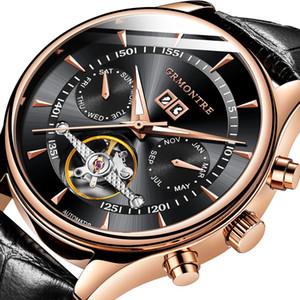Relogio Masculino Orologi automatici da uomo Scheletro meccanico Orologio di moda Orologio nero Erkek Kol Saati Reloj Hombre Grmontre Y19070603
