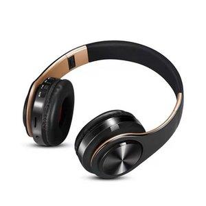 Cuffia stereo senza fili Bluetooth Headset pieghevole auricolare animazione che mostra il supporto TF card Costruire-in MIC 3.5mm Jack per HUAWEI