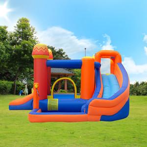 Флэш Продажа Водный парк Надувные Пираты острова Детский парк Открытый Pirate Bay Water Slide с бассейном для детей в день покупки 618