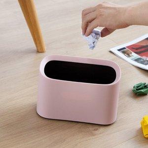 تنظيم التدبير المنزلي الأخرى 1PCS مصغرة النفايات بن طاولة سطح المكتب سلة القمامة مكتب المنزل تهز القمامة يمكن مكتب تخزين مربع dustbin سو