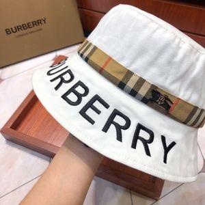 2020 Schwarz Weiß-Druck-Muster-Wannen-Hüte für Damen Herren Fischerhut Sonne Sommer Sonnenschutz Fischer Panama Reversible Hip Hop Cap