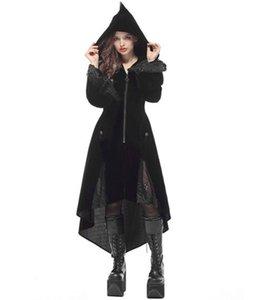 Vestido medieval negro JIEZuoFang para mujeres adultas Punk Victorian Retro Costume Renaissance Gothic Jacket Tuxedo Disfraces de Halloween