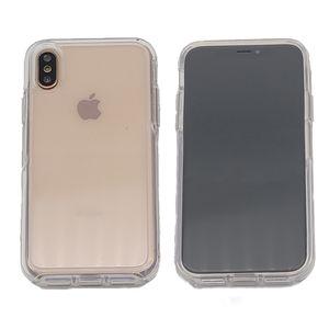 Coque transparente Symmetry pour iPhone Xs Max XR X 8 7 Plus 6 6S PC + TPU Defender Couverture hybride Robot Armure Antichoc Mobile Phone Shell
