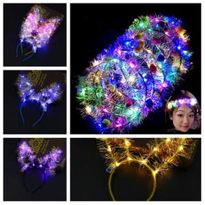 sıcak LED saç çember saç çelenk Hairband Garlands Noel süslemeleri Parti Çiçek kafa kedi kulaklar Hairbands Parti SuppliesT2G5061