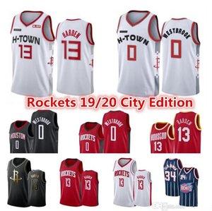 Men's Houston Jersey James 13 Harden Russell 0 Westbrook Hakeem 34 Olajuwon Cheap City White Jerseys hockey
