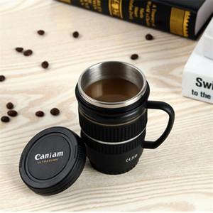 100 Pz Creativo SLR Camera Lens styling Tazza Portatile In Acciaio Inox Tazza di vetro boccetta di viaggio tazza di acqua di vuoto regalo di modo T3I5682