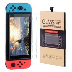 Para Nintendo Mudar tela de vidro temperado Protector Film 2.5D 9H premium 2 Pack Com pacote de varejo quente