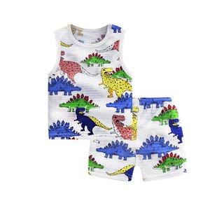 Karikatür Ayı Ev Giyim Çocuk pijamaları Giyim Setleri 2PCS Boys Kız Tasarımcı Çocuklar Short Sleeve Suit Çocuk Ev Giyim Perakende ayarlar