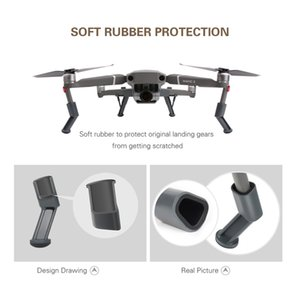 Soporte Protector Accesorios de tren de aterrizaje Kits de pies de pierna extendidos Soporte de pie Absorción de golpes para DJI MAVIC 2 Drone