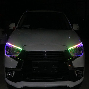 자동차 눈썹 가벼운 초박형 가이드 바 RGB 트리머 다채로운 빛 줄을 눈물하기 위해 LED 윤곽 차례