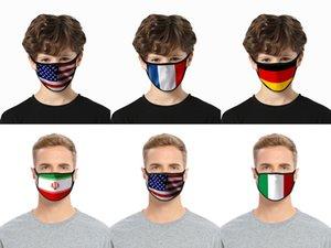 40 Stili 3D USA America bandiera Stampa Maschere cotone lavabile maschera di protezione maschera traspirante Resuable Donne Uomo modo del capretto