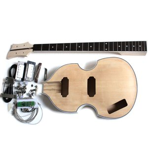 NEW DIY Electric Bass Guitar Kit Violin Bass Build Your Own With All Parts In Left-handed