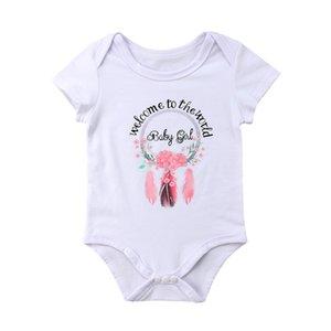 Sevimli Yenidoğan Çocuk Bebek Boys Kız Tüy Romper bodysuit Jumpsuit Kıyafet Giyim