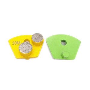 Two Round Diamond Segments Concrete Grinding Shoes Concrete Floor Polishing Pads for Floor Systems Planetary Grinder 12PCS