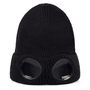 2019 new masked wool hat fashion new with glasses headgear autumn and winter outdoor riding hats universal caps