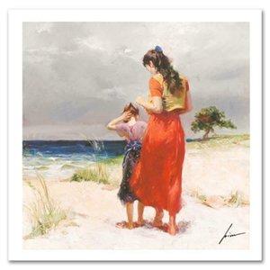 Pino Art Peinture « Beach Walk » Home Décor Artisanats Peinture à l'huile sur toile mur toile Photos 200608
