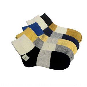 Combed cotton men's double needle 2-way Medium medium Scarf 3-color muffler socks men's middle tube socks