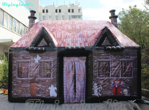 6m Halloween Cabin Inflatable Hallowmas Cottage Scary House Inflated Hotel Transylvania