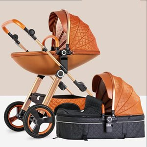 free delivery! 2018 new high landscape stroller 2 in 1 can sit reclining foldable stroller