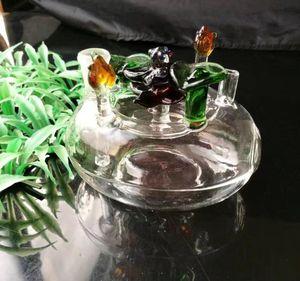 꽃 침대 유리 물 담뱃대 냄비, 도매 유리 기억 만 액세서리, 유리 물 파이프 흡연, 무료 배송