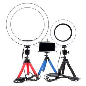 La luz del anillo de Selfie de Dimmable LED con el maquillaje de la transmisión en vivo del enchufe del trípode USB de MiNi llevó el anillo Lam