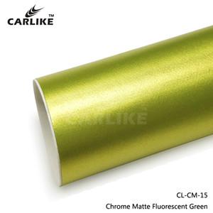 Accessoires extérieurs Revêtement en vinyle de carrosserie de carrosserie en film de film métallique vert, chrome vert fluorescent