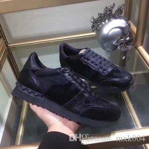 2019 zapatillas de deporte de los hombres de lujo de las señoras de las muchachas de piel Brida Wrap Zapatos Casual Clásico Balck hombres blancos puros zapatos hy02