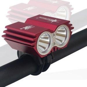 SolarStorm 5000 Lumen 2x XML U2 LED SolarStorm Faire du vélo vélo avant Lampe HeadLight Lampe frontale (sans batterie)