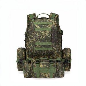 Combinaison Camouflage Sac à dos d'alpinisme spécial tactique Double Sac à bandoulière grande capacité de 55 hommes de Litres