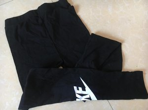 봄 여름 디자이너 브랜드 여성의 레깅스 여성 바지면 검은 색 하나의 크기 캐주얼 탄성 허리 대형 탄성 무료 크기