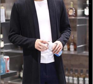 Katı Renk Coats Bahar Erkek Dış Giyim Açık Dikiş Moda Tasarımcısı ceketler Uzun Kollu Erkek